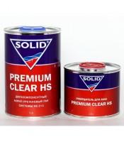 Двухкомпонентный акрил-уретановый лак с повышенным сухим остатком Solid Premium Clear HS (1л)