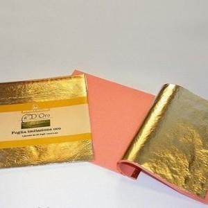 """Имитация золотого листа «2,5""""» (поталь)"""