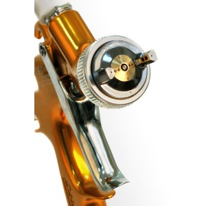 "Star Окрасочный пистолет с ""верхним"" пластиковым бачком 0,6л. EVO-T-4F-145G  (дюза 1,4 мм),"