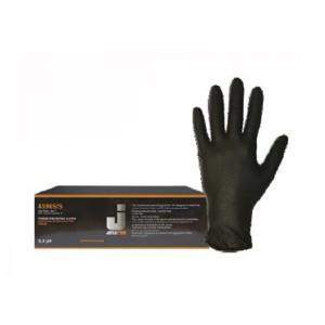 Нитриловые перчатки Jetapro черные (1 комплект, В упаковке 100 шт.)