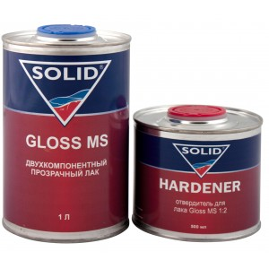 Двухкомпонентный прозрачный лак Solid Gloss MS