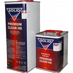 Двухкомпонентный акрил-уретановый лак с повышенным сухим остатком Solid Premium Clear HS (5л)